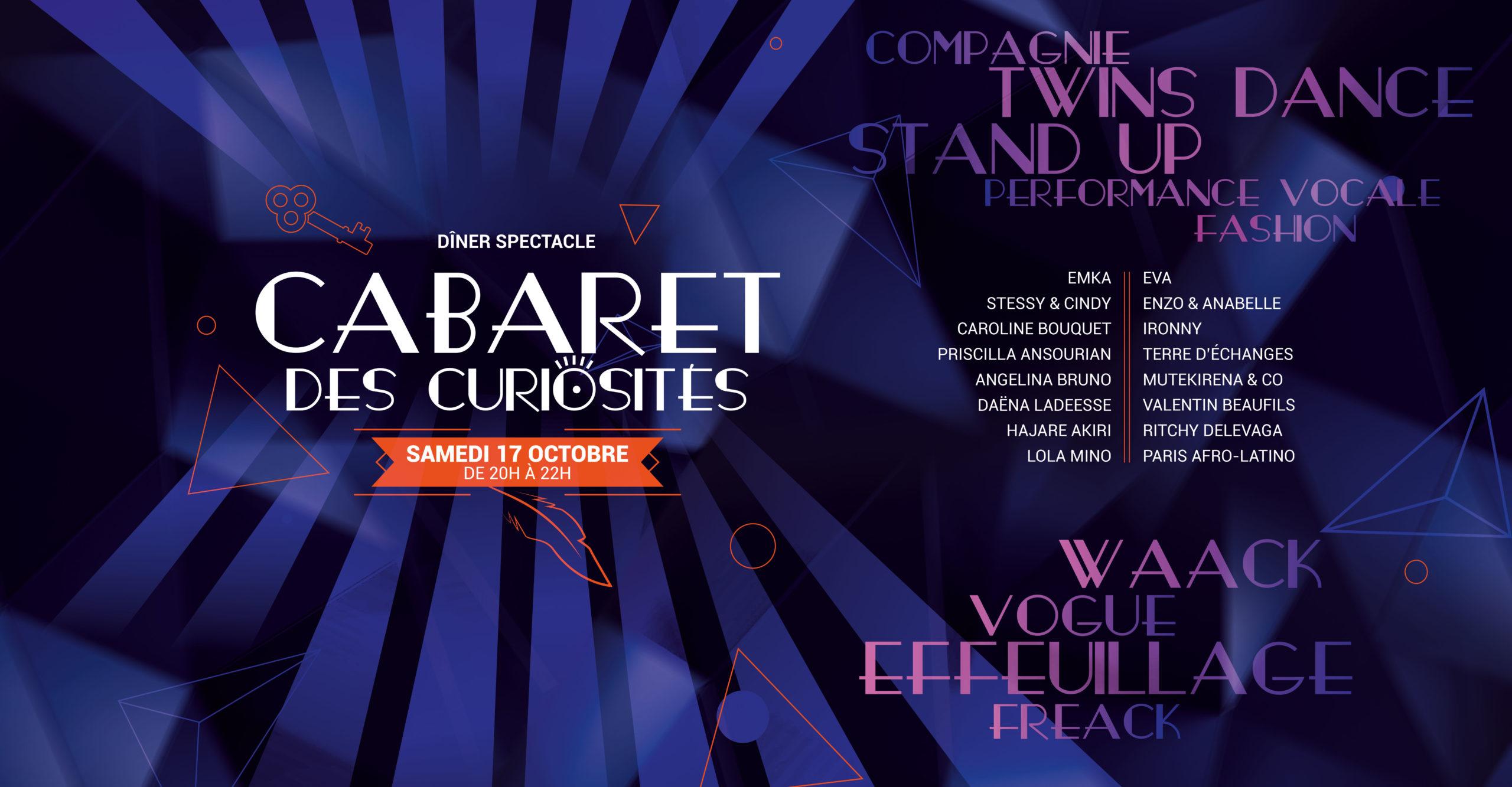 Cabaret des curiosités Samedi 17 octobre 2020 20h à 22h