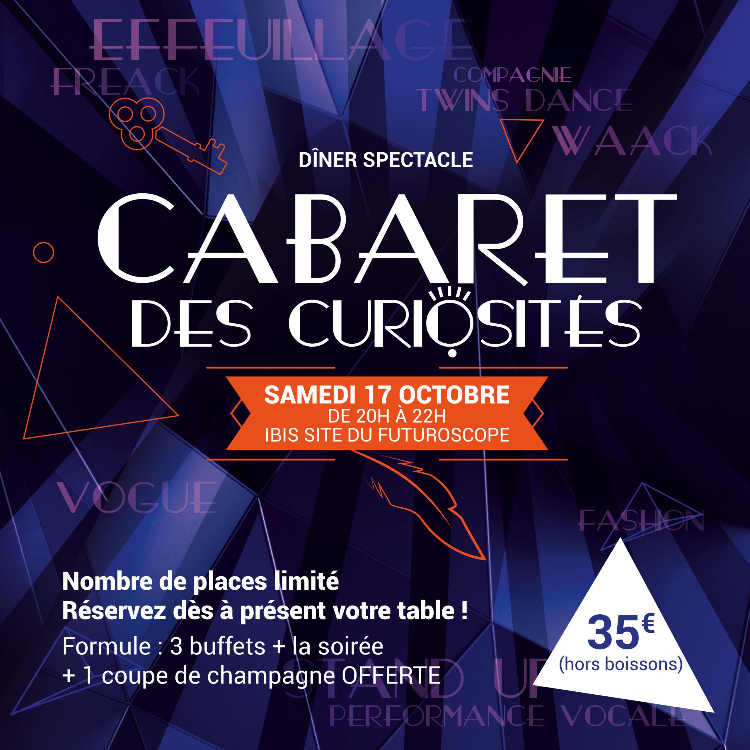 réservation Cabaret des Curiosités Efferv&sens3 Futuroscope (86)