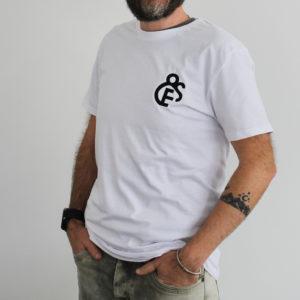 t-shirt blanc Efferv&Sens avec logo brodé sur la poitrine - homme