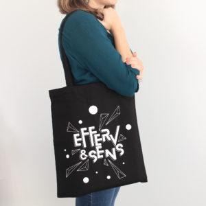 tote bag 2020 logo Efferv&Sens noir